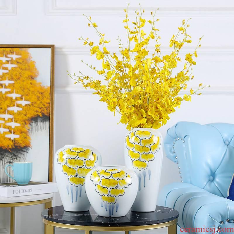 Jingdezhen modern ceramic vase furnishing articles mesa flower arranging flower implement sitting room adornment household pottery vases