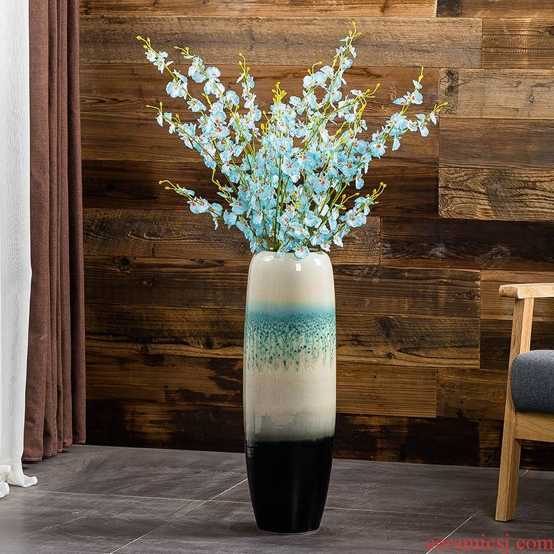 Jingdezhen ground vase large - sized ceramic sitting room porch decorate European I and contracted style flower arranging furnishing articles