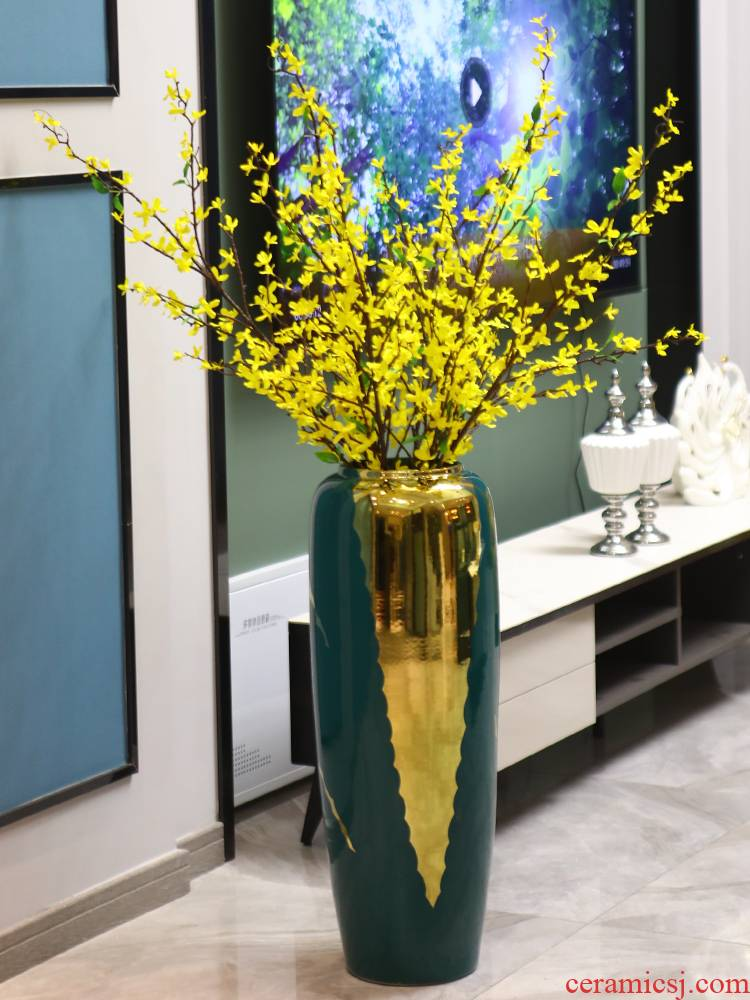 Nordic light key-2 luxury ceramic vase landing large arranging flowers, dried flowers, furnishing articles porch is I and contracted sitting room adornment