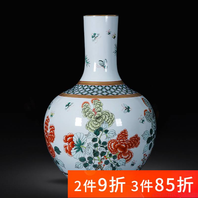 Jingdezhen ceramic imitation the qing qianlong drive porcelain vases large landing place, sitting room of Chinese style household ornaments
