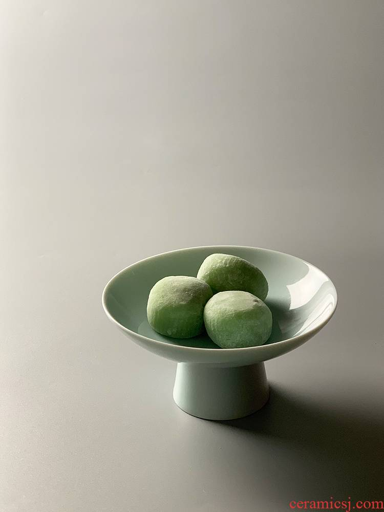 Small ceramic bowl Chinese high tea cake plate of plate snack plate all the household snack plate of high disc