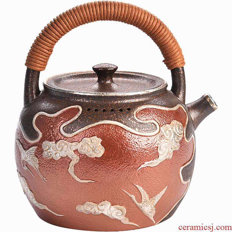 Shadow enjoy gode ceramic tasted silver gilding coppering. As teapot household thickening boiled tea kettle manually restoring ancient ways of make tea