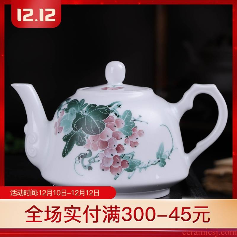 Folk artists fruits hand - made under glaze colorful jingdezhen ceramic teapot with the large tea kettle