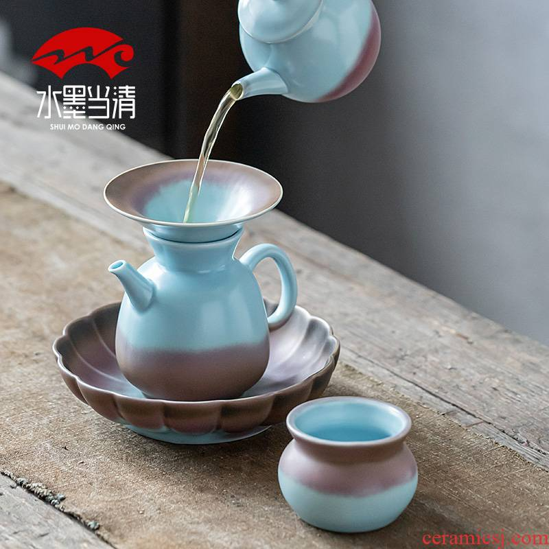 Jingdezhen your up ceramic kung fu tea set tea cup teapot office visitor domestic high - end gift boxes