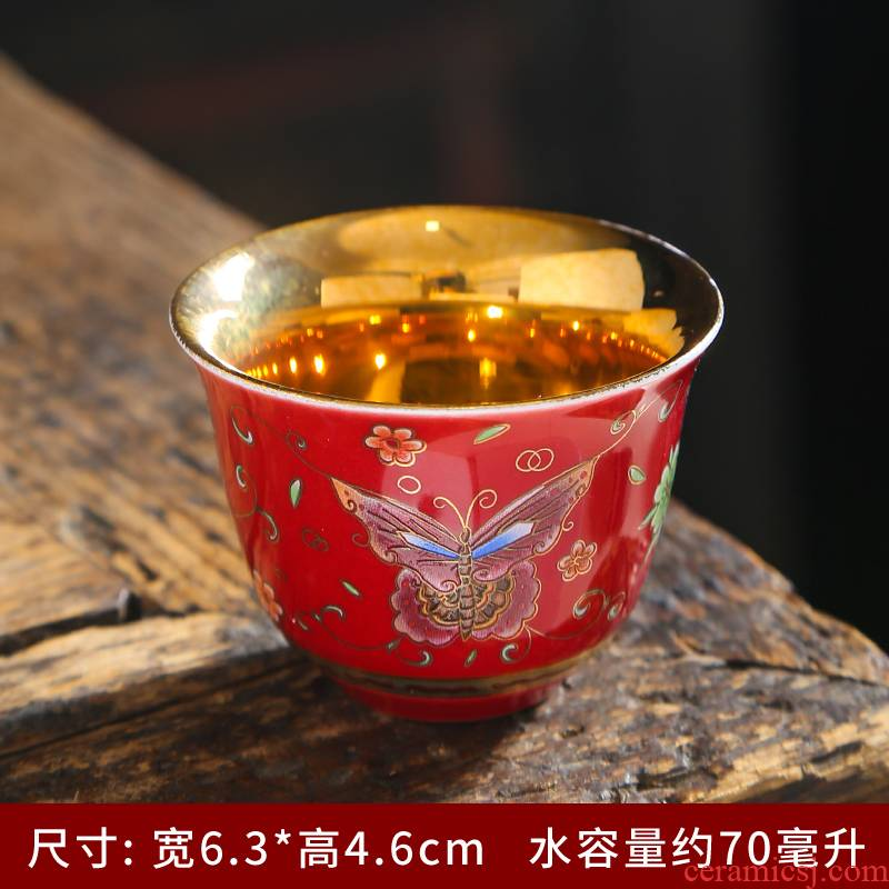 Sterling silver cup silver sample tea cup ceramic, 999 silver, silver cups of tea light cup kung fu master cup single cup size