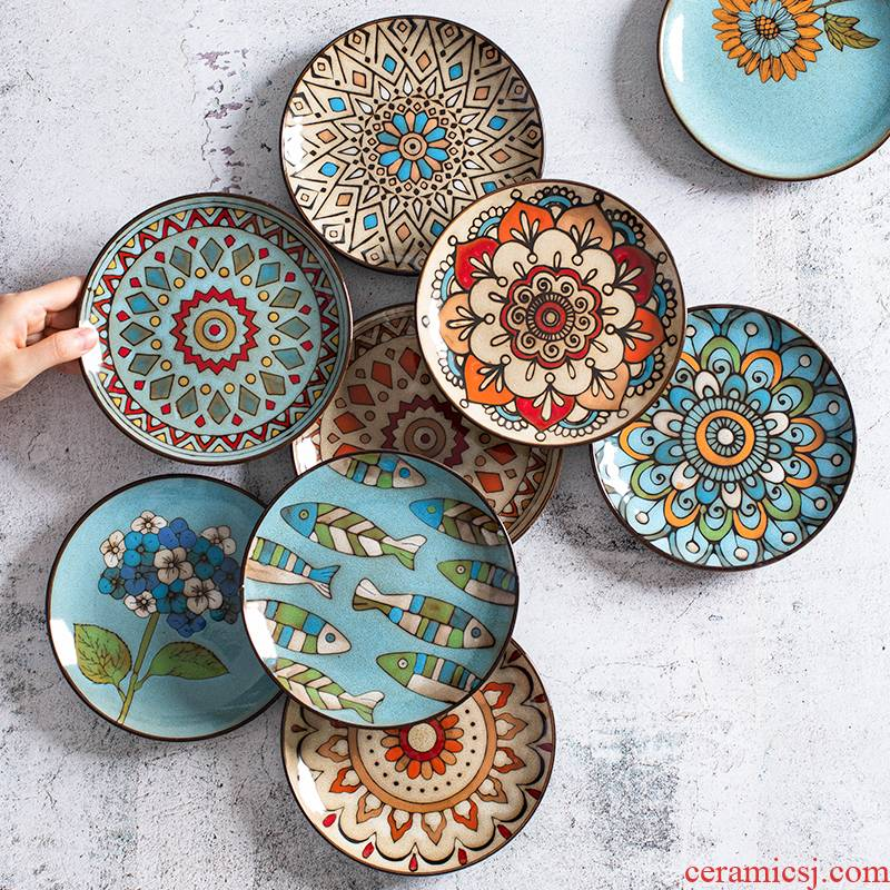 Lovely small dish dish dish dish household ceramic plate cold dish dish table spit ipads plate small platter spit ipads residue