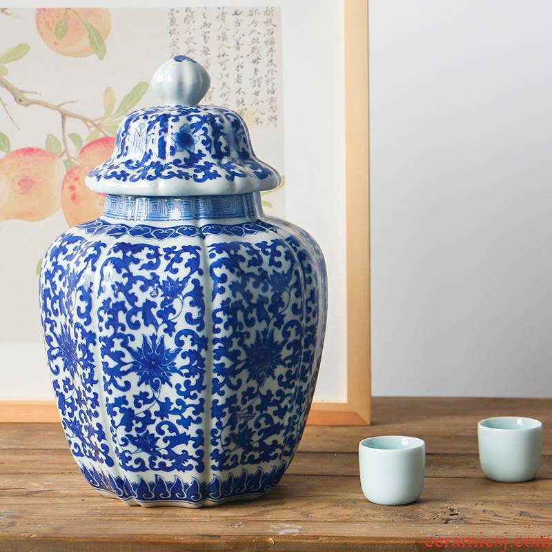 Modern Chinese style restoring ancient ways furnishing articles special - shaped ceramic canister to the sitting room is the study room partition adornment display