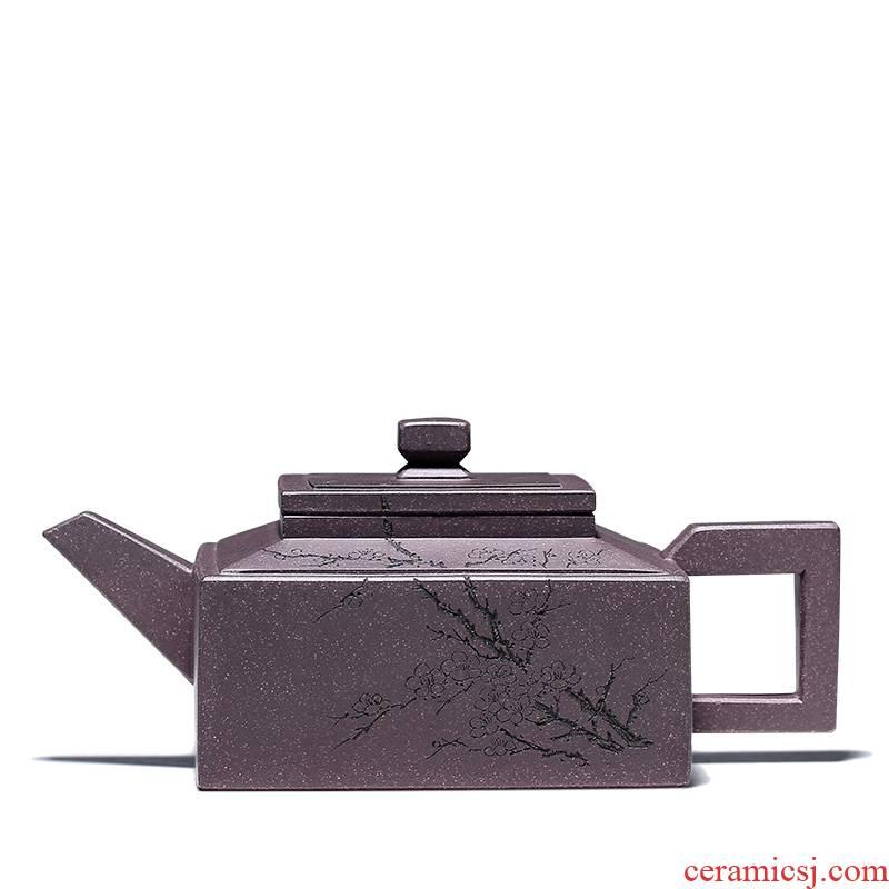 Shadow at yixing masters are it all hand sifang Fang Qi teapot tea set its mud mesa YiShi GYT