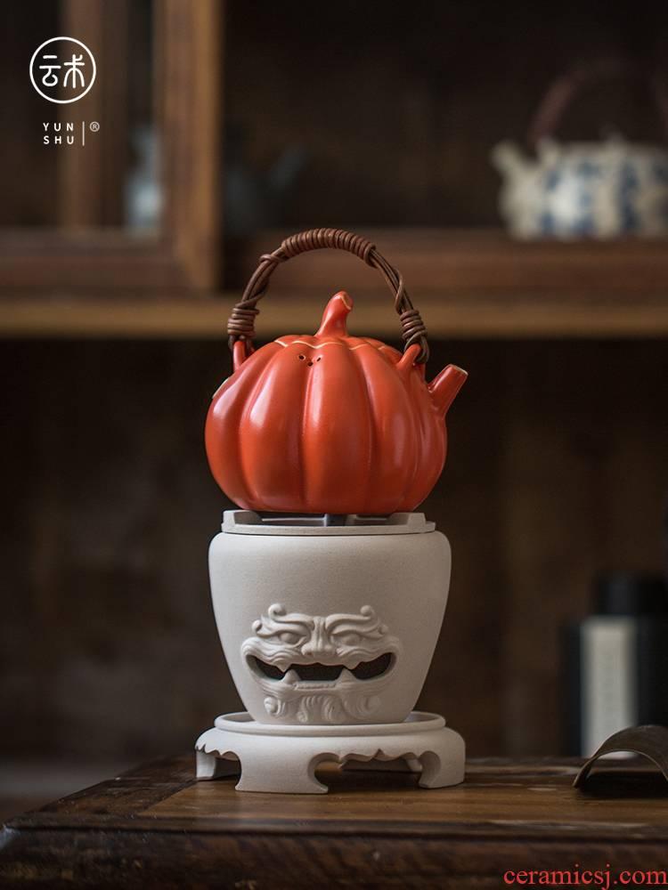 Cloud (alum red ceramic side the boiling kettle household girder ceramic POTS white tea, the tea, the electric TaoLu boiled tea ceramic furnace