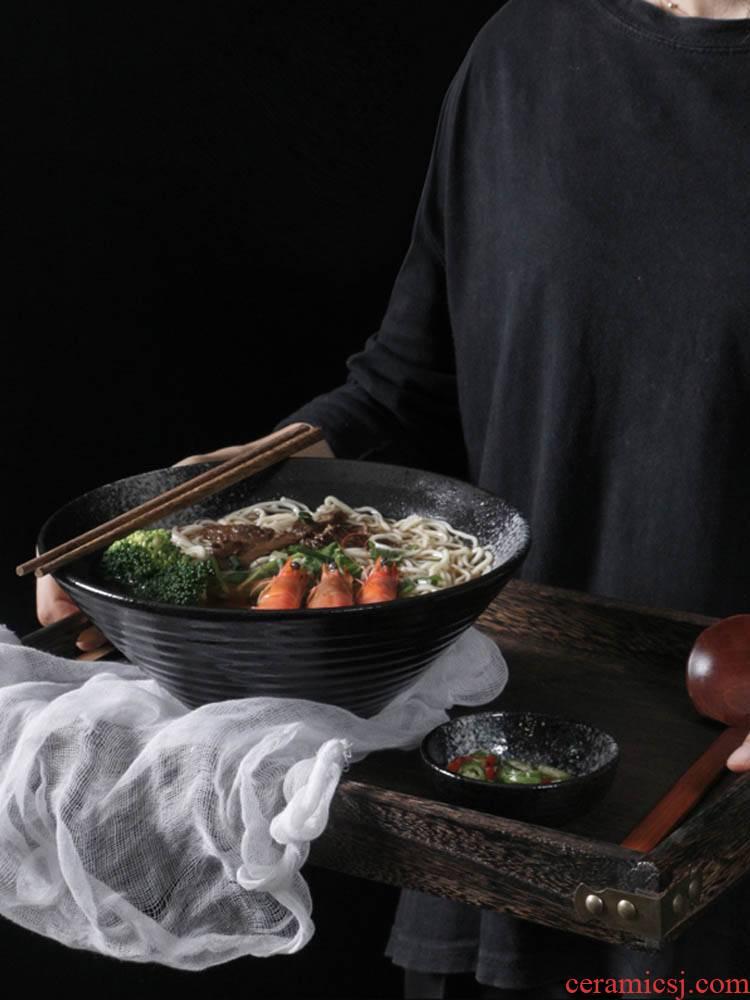 Special 1 eat noodles ltd. household hat pavilion Japanese ceramic bowl large bowl bowl taste soup bowl such as always