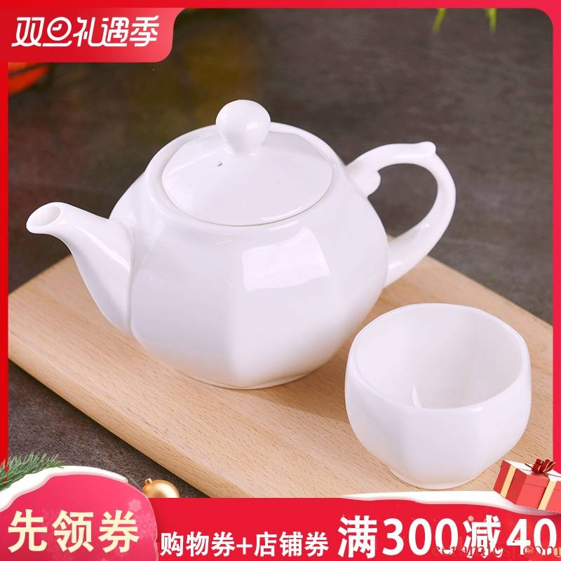 Jingdezhen pure creative hand made of a complete set of kung fu tea set suit household contracted ceramic teapot tea cups