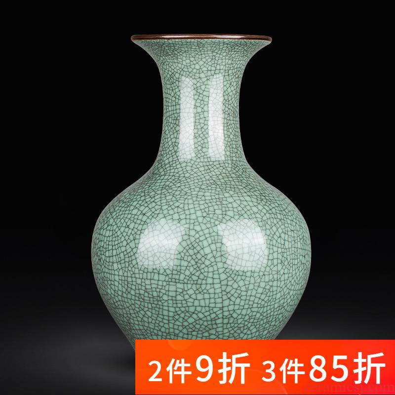 Jingdezhen ceramics archaize large green glaze on up vases, sitting room of Chinese style household decorations furnishing articles