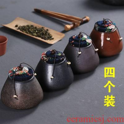 Jasmine tea pot, ceramic tea set tea caddy fixings warehouse sealed household storage tank pu 'er tea pot travel POTS