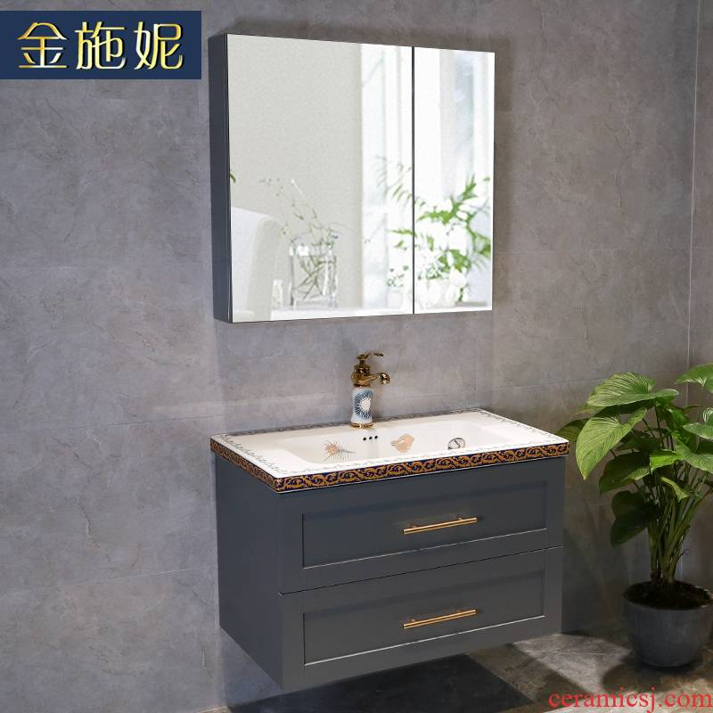 Gold cellnique bathroom light key-2 luxury Nordic bathroom ark combination wall ceramic lavabo toilet washing a face wash gargle