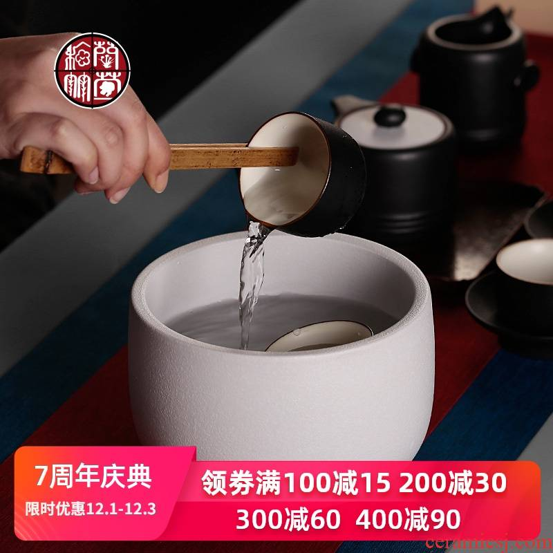Coarse pottery tea wash to large water jar household utensils accessories for wash bowl Chinese ceramics from simple pure color sheet is tasted