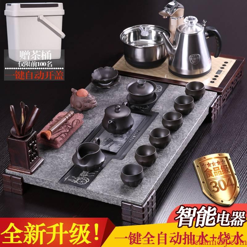 Shadow enjoy tea set automatic electric tea stove sharply violet arenaceous kung fu tea set LHJY stone tea tray of tea