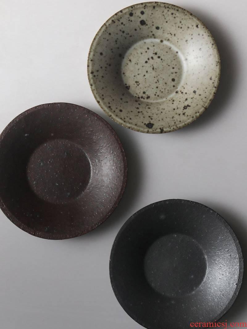 About Nine soil manual coarse pottery cup kung fu tea cup mat Japanese tea taking zero mat ceramic sample tea cup saucer