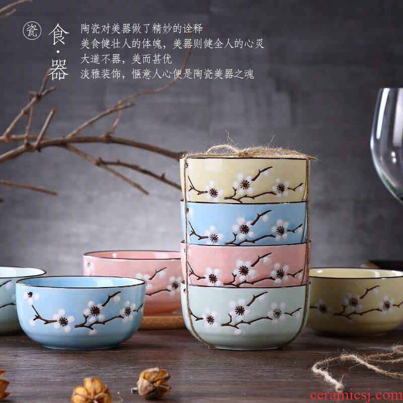 The kitchen eating food suits for ceramic bowl bowl creative household bowls to eat rice bowl, small bowl dishes suit Japanese dishes