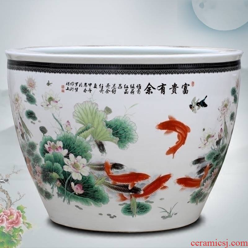 Jingdezhen ceramic aquarium well - off furnishing articles sitting room courtyard and landing the tortoise cylinder, a goldfish bowl