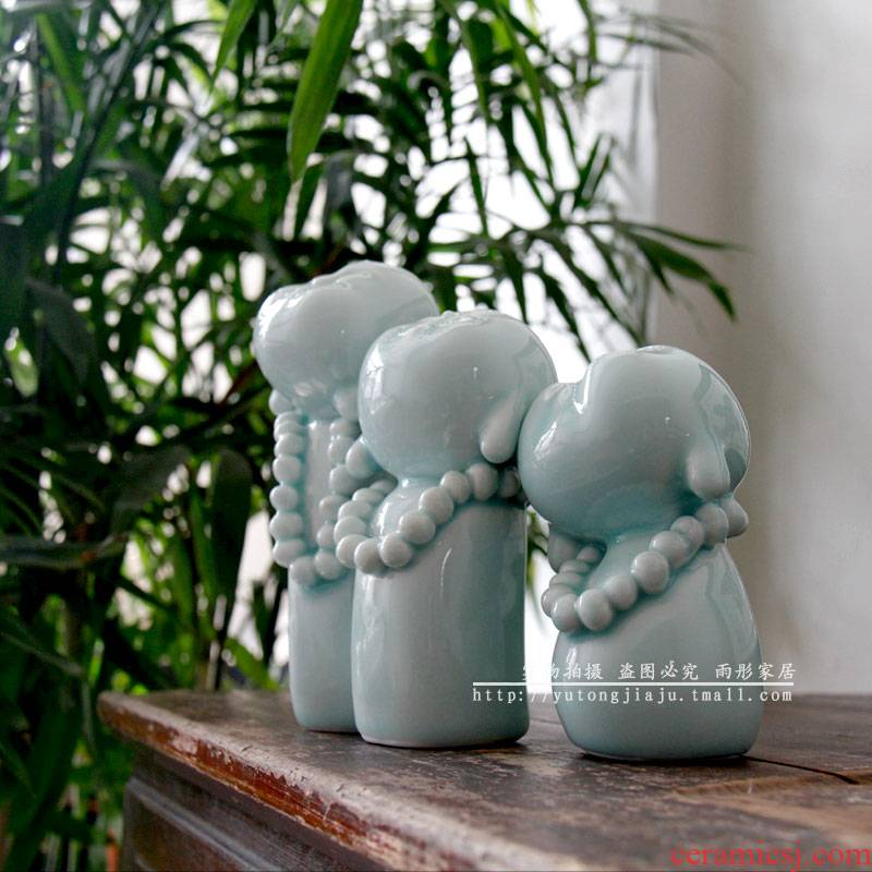Jingdezhen ceramics by hand monk tea pet birthday gift ideas in the new seats in furnishing articles furnishing articles shadow celadon tea