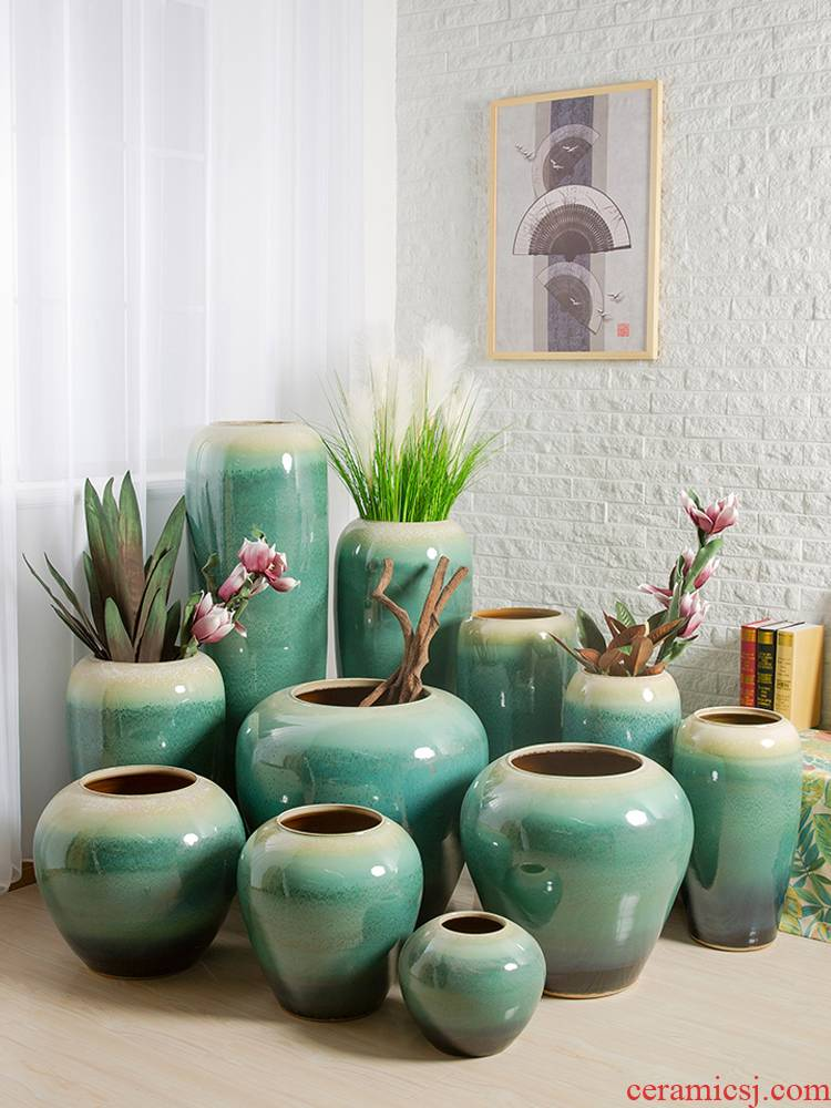 I and contracted home sitting room put dry flower POTS of jingdezhen ceramic vase furnishing articles soft outfit craft ornaments