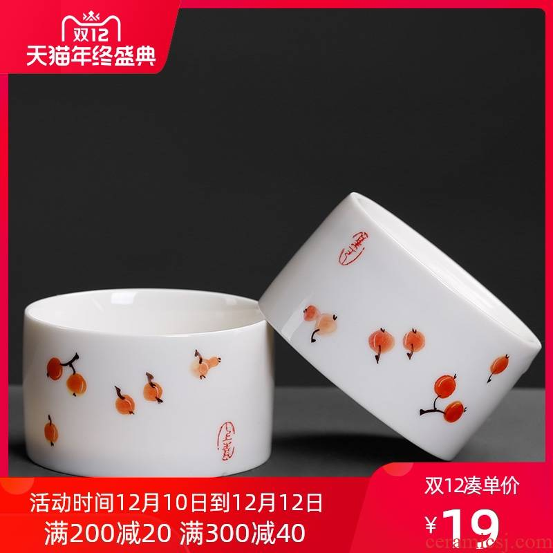 Blue and white porcelain cup single move only hand - made kung fu glass ceramic tea small master cup sample tea cup tea cup