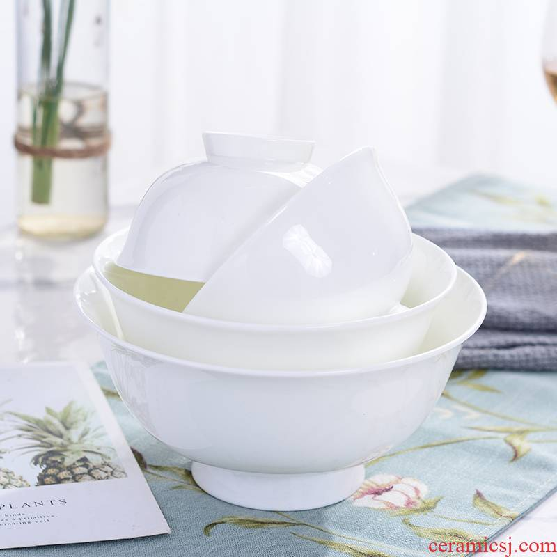"""Jingdezhen porcelain ipads prevent hot bowl of rice bowls white rainbow such use household ultimately responds dilute bowl 4.5 """"5"""" 6 """", 7"""""""