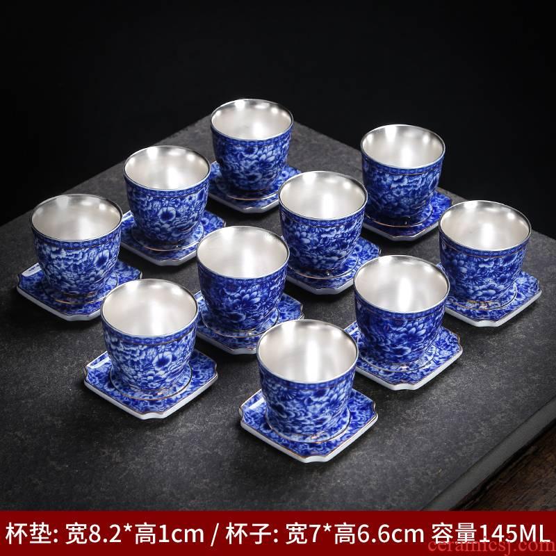 Jingdezhen high - end master cup single CPU hand - made colored enamel porcelain ceramic tea set flower sample tea cup kung fu tea cups