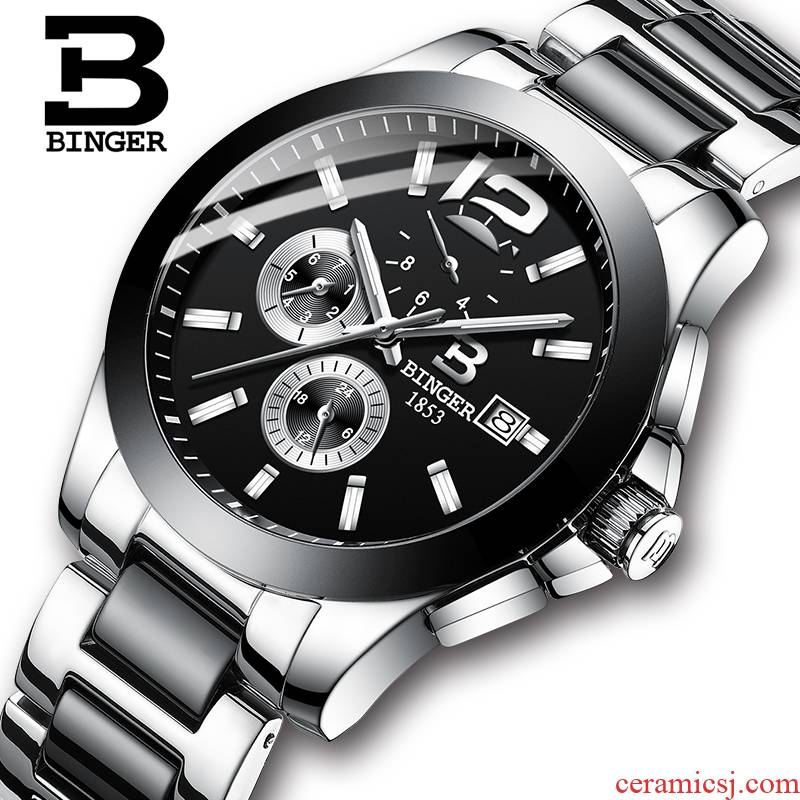 Accusative watches automatic mechanical watch ceramics with fine steel men 's watch is water - resistant