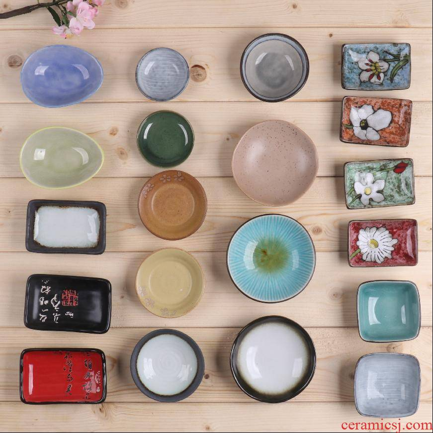 Japanese gen means dish home snacks flavor dish of ceramic tableware, flavor restaurant ipads plate small dishes