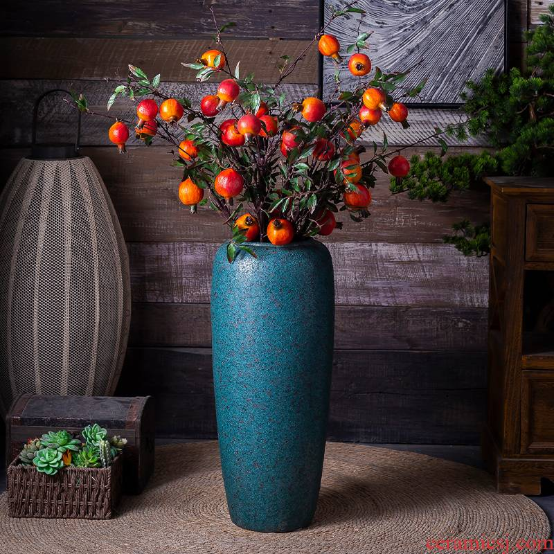 Holly light of large vase key-2 luxury large sitting room be born long I and contracted dry flower arranging ceramic decoration furnishing articles