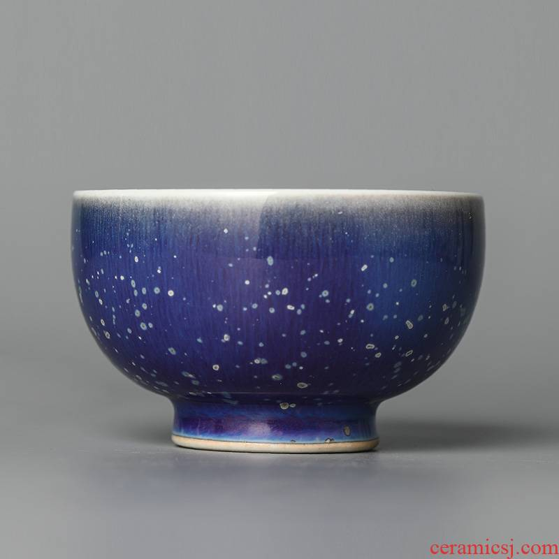 Jingdezhen pure manual teacup kung fu master cup single cup large ceramic bowl with variable glaze tea set a single masterpieces