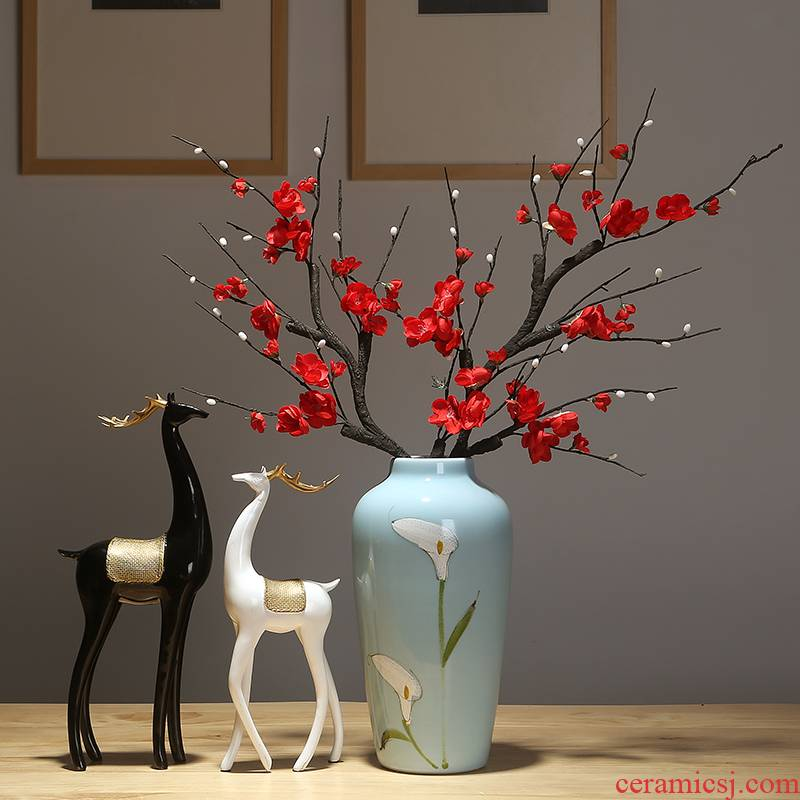 Jingdezhen modern creative ceramic vase vase home sitting room mesa adornment handicraft decoration vase
