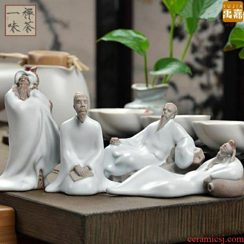 Zen water violet arenaceous character pet furnishing articles tea to high - quality goods keep your up creative young monk lucky color and move