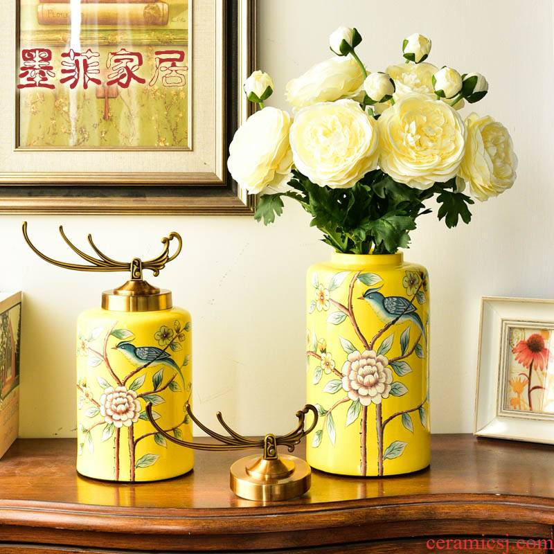 American TV ark, furnishing articles household act the role ofing is tasted creative ceramic table sitting room porch soft adornment flower vase decoration