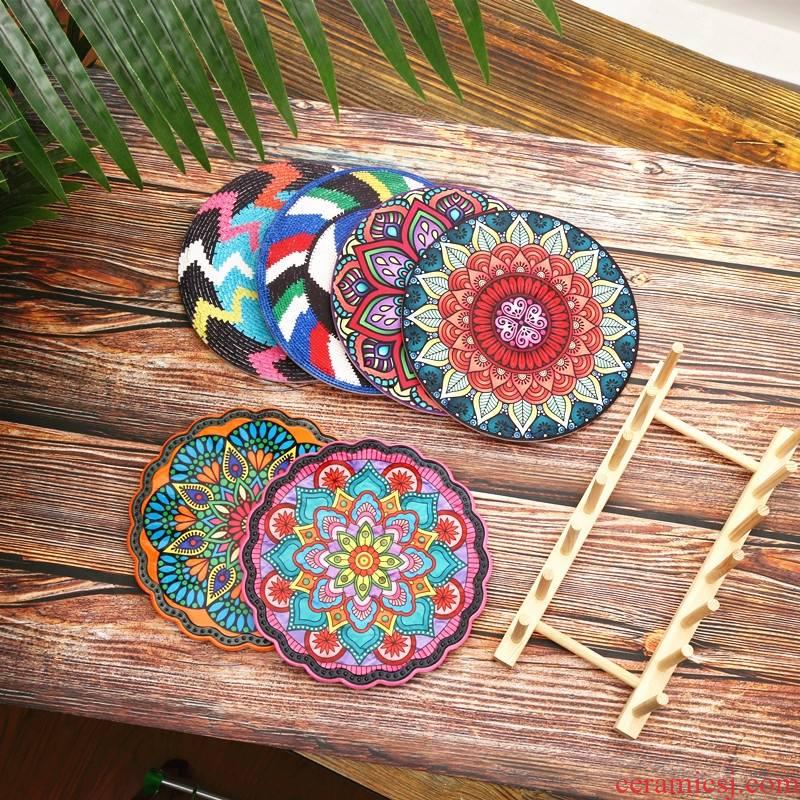 American light key-2 luxury home table mat heat insulation pads European table hot heat resistant ceramic table mat the eat mat mat decoration