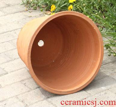 Flowerpot breathable ceramic osmanthus oversized old mud made of baked clay red clay coarse some ceramic flower pot