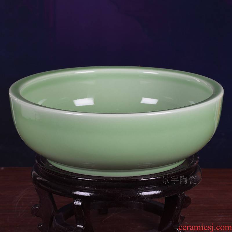 Jingdezhen ceramic and basin home upset deepen boiled fish pickled fish bowl of extra large soup bowl washing dishes in the kitchen