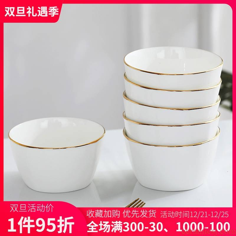 The Job of household ceramic bowl suit creative Japanese - style square bowl of up phnom penh small bowl of soup bowl of jingdezhen bowls of ipads porcelain rice bowls