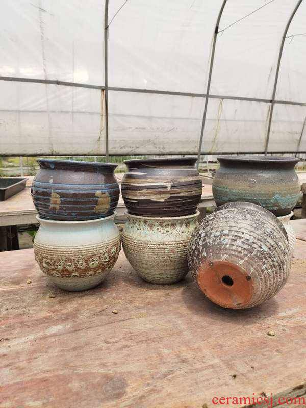 Thousand love gardening coarse pottery flowerpot fleshy flower pot basin ventilation plant mage stout round old running the spread POTS