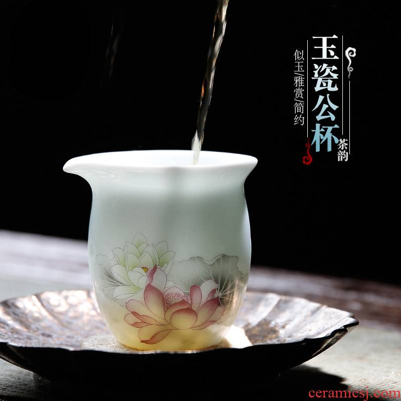 The Poly real boutique scene. Fair ceramic cup hot insulation large capacity of jingdezhen tea service points a tea and a cup of tea
