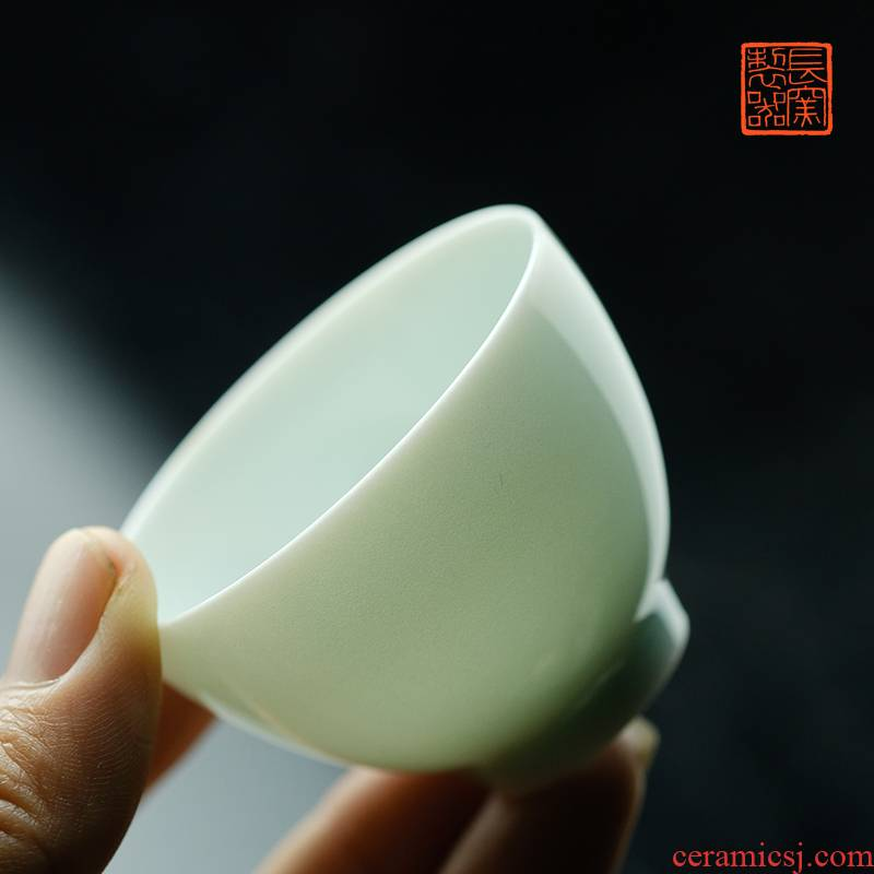 Offered home - cooked view flavour to maintain small heart cup cup in jingdezhen pure hand - made antique porcelain master cup of tea