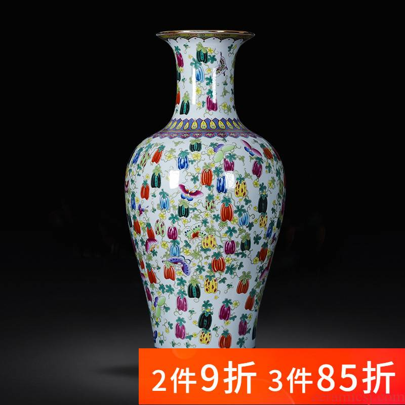 Jingdezhen porcelain antique the qing qianlong ceramic vase landed large furnishing articles of new Chinese style home sitting room adornment