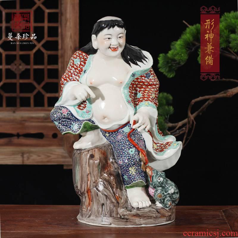 Jingdezhen ceramic bang play golden cicada fun vivid ceramic art furnishing articles furnishing articles dynamic decoration art