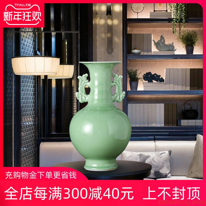 Jingdezhen ceramics archaize shadow blue glaze vase furnishing articles household act the role ofing is tasted, the sitting room TV ark, beside the flower arrangement and gift