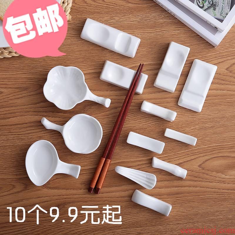 New white ceramic hotel table chopsticks chopsticks tableware frame supporting ideas and multi - purpose spoon, chopsticks holder frame 10