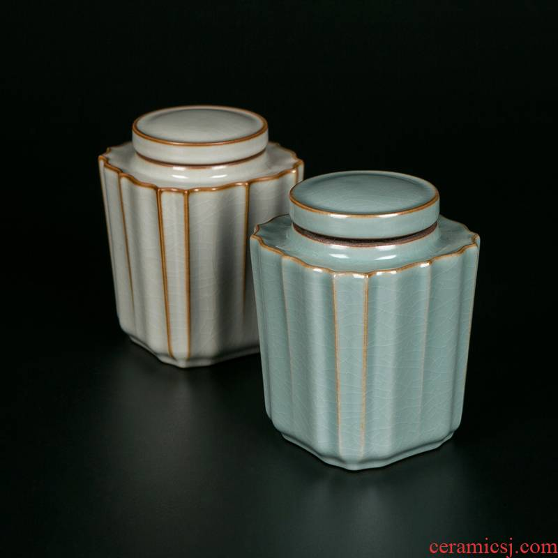 Jingdezhen ceramic ice crack glaze on your up tea boxes sealed as cans of tea caddy fixings storehouse empty as cans household storage POTS