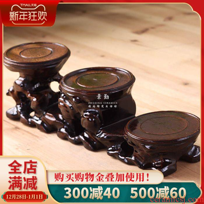 Rosewood tea base 111 jingdezhen process manual its three the layers of household vase decoration decoration