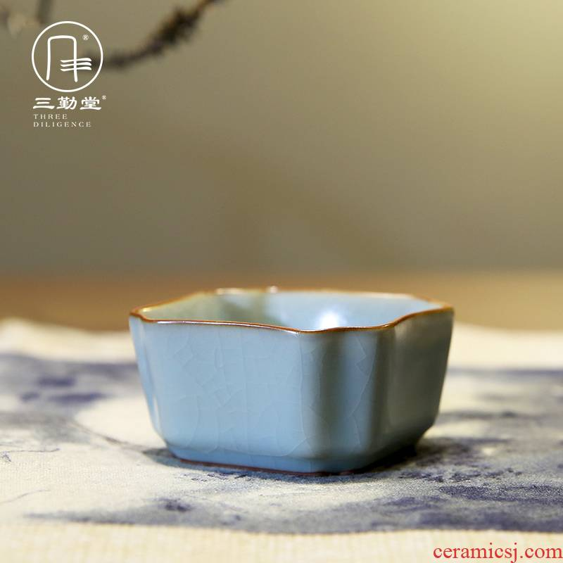 The three frequently your up kung fu tea cups sample tea cup jingdezhen ceramic tea set personal master cup single CPU S44006