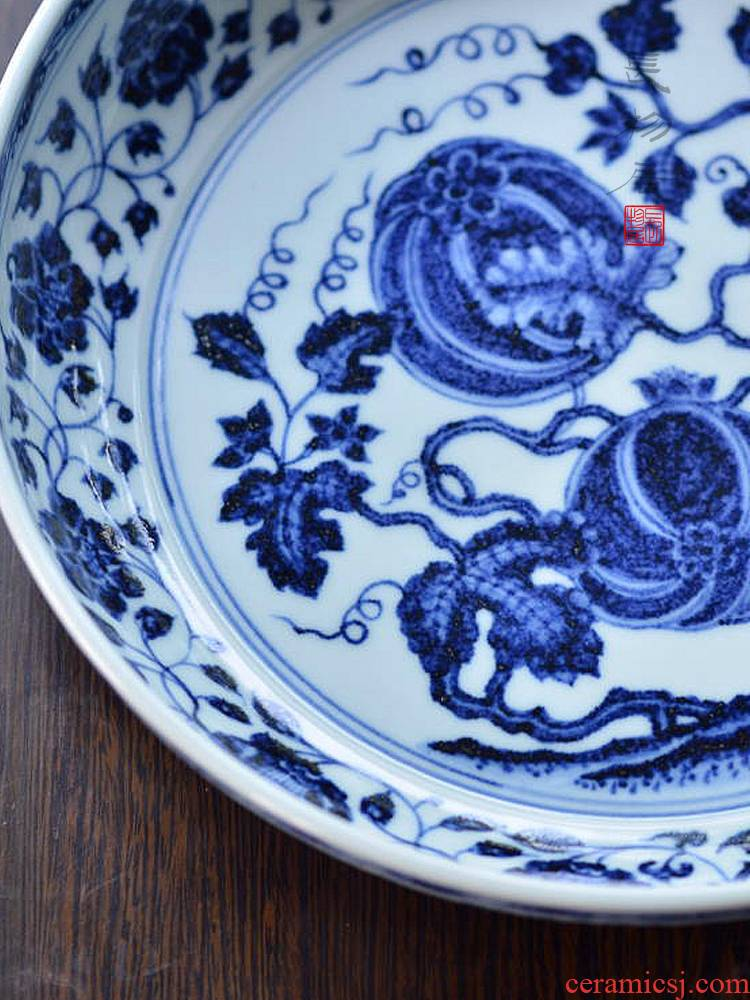 Offered home - cooked imitation jintong hand - made porcelain in a lotus fruits and grain porcelain plate of archaize of jingdezhen ceramic tea fruit tray